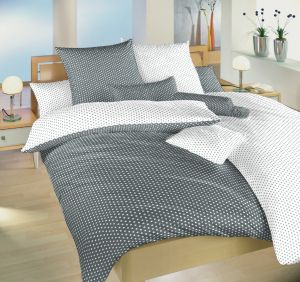 Obojstranné kvalitné bavlnené posteľné obliečky Hviezdička biela / sivá DUO, | 140x200, 70x90 cm, Obliečky bavlna Hviezdička biela / sivá DUO 140x220, 70x90 cm, Obliečky bavlna Hviezdička biela / sivá DUO 40x40 cm povlak, Obliečky bavlna Hviezdička biela / sivá DUO 40x50 cm povlak