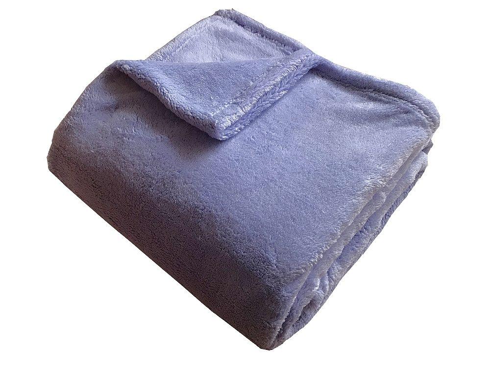 Jednofarebná kvalitná Super soft deka Dadka lila,