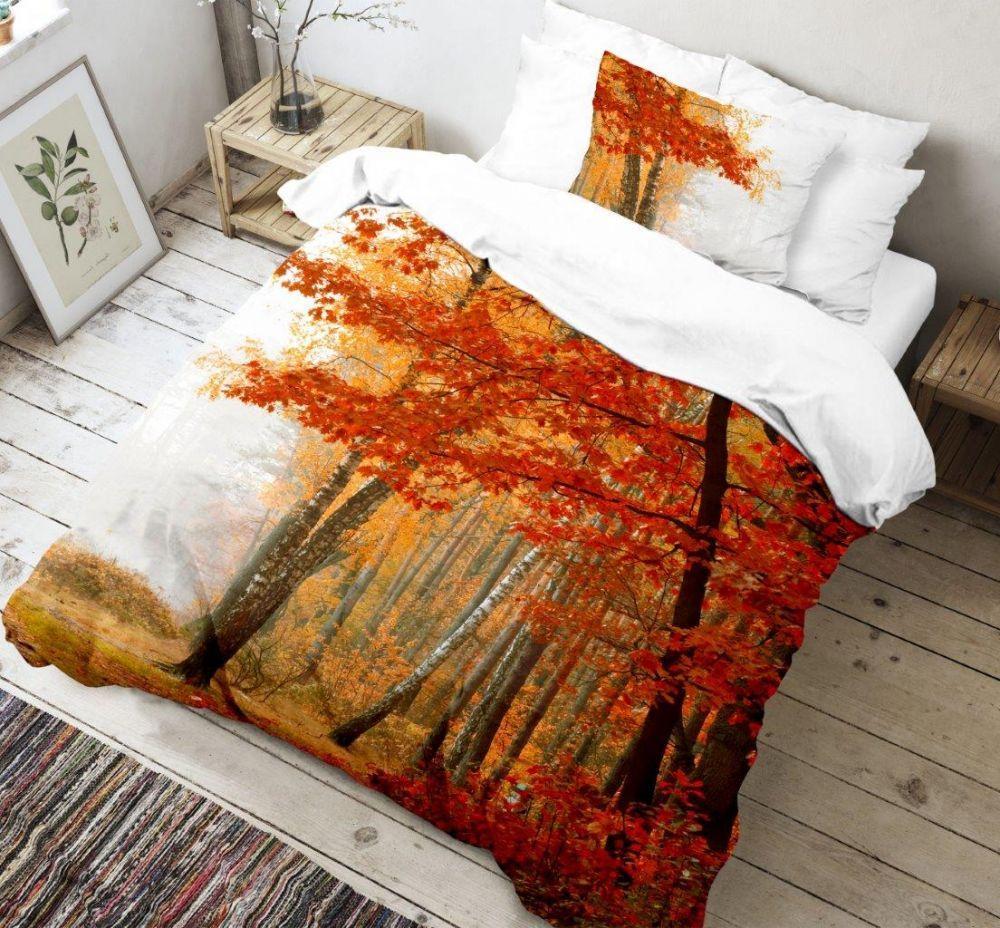 Krásne bavlnené obliečky v 3D s motívom stromov Leaves, Kvalitex
