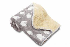 Detská deka Ovečka s ovečkami svetlo šedá | 100x150 cm