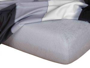 Kvalitné napínacie froté prestieradlo v šedej farbe, | rozmer 90x200 cm., rozmer 120x200 cm., rozmer 140x200 cm., rozmer 160x200 cm., rozmer 180x200 cm.