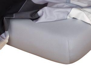 Kvalitné napínacie jersey prestieradlo v šedej farbe, | rozmer 90x200 cm., rozmer 160x200 cm., rozmer 180x200 cm.