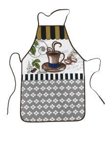 Kuchynská zástera Hnedý šálka