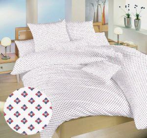 Obliečky bavlna Carré červené | 140x200, 70x90 cm