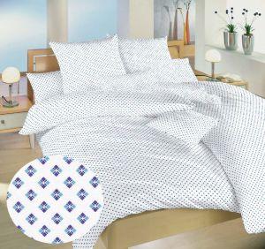 Obliečky bavlna Carré modré | 140x200, 70x90 cm