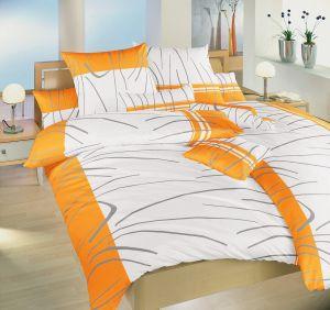Bavlnené obliečky českej výroby Tenerife oranžovej, | 140x200, 70x90 cm