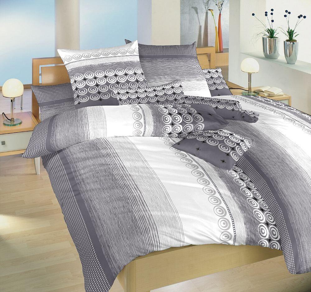 Krepová posteľná bielizeň Sahara šedá, Dadka