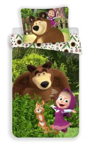 """Obliečky Máša a Medveď """"Flowers"""""""