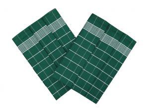 Utierka Pozitív Egyptská bavlna smaragdová / biela 3 ks | Utierka Pozitív Egyptská bavlna smaragdová / biela - 3 ks