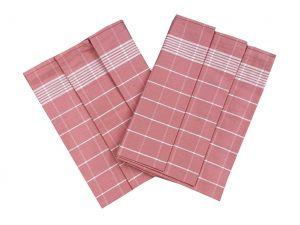 Utierka Pozitív Egyptská bavlna staroružová / biela 3 ks | Utierka Pozitív Egyptská bavlna staroružová / biela - 3 ks