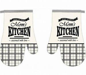 Kuchynská chňapka 2 ks Mom´s kitchen čierna | 18x27 cm