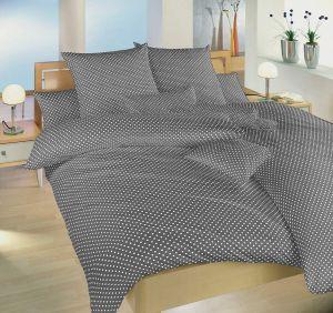 Veľmi moderné a kvalitné bavlnené posteľné obliečky Bodky šedý, | 140x200, 70x90 cm, 140x220, 70x90 cm