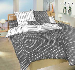 Od českého výrobcu kvalitné bavlnené posteľné obliečky Bodky bielošedý, | 140x200, 70x90 cm, 140x220, 70x90 cm