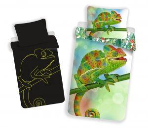 Bavlnené obliečky Chameleon svietiaci efekt | 140x200, 70x90 cm