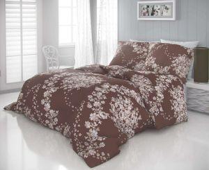 Saténové obliečky LUXURY COLLECTION MELROSE hnedé | 140x200, 70x90 cm, 140x220, 70x90 cm