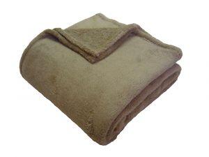 Od českého výrobcu kvalitná super soft deka vo farbe stredne hnedá,   100x150 cm
