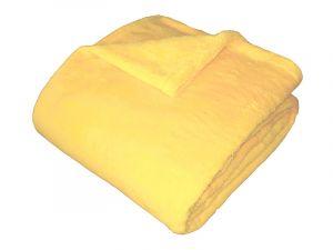 Od českého výrobcu kvalitná super soft deka vo svetlo žltej farbe,   150x100 cm