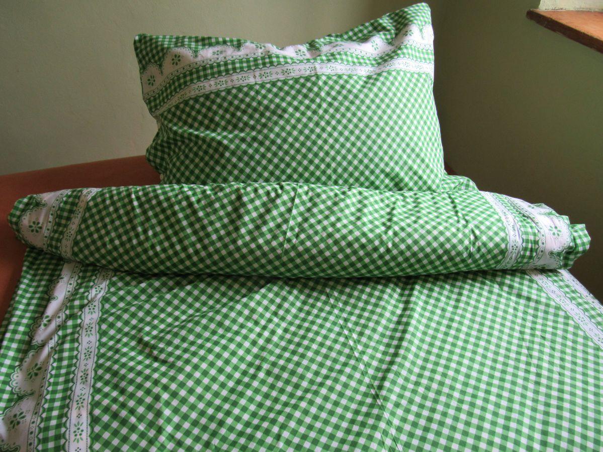 Kanafas zelený bavlněné ložní povlečení