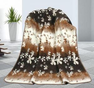 Vlnená deka 155 x 200 cm kvety - európske merino