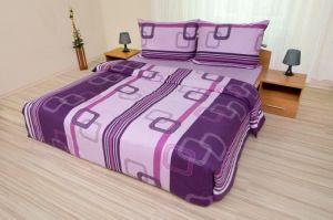 Geometria fialová bavlnené obliečky