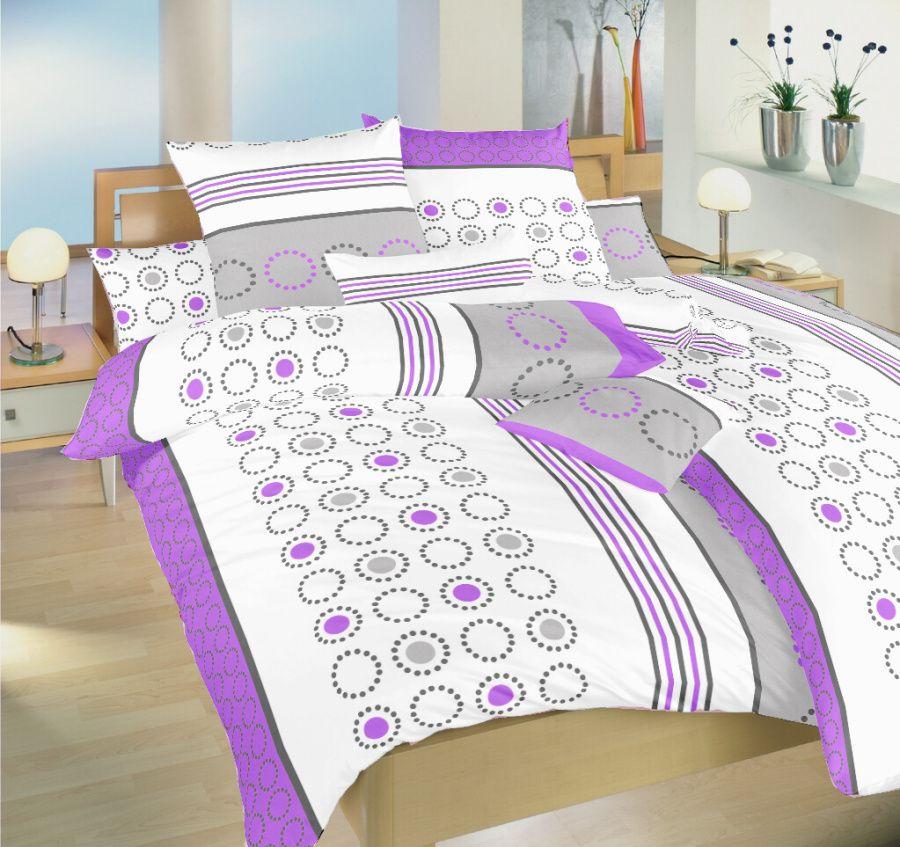 Kolotoč fialový flanelové ložní povlečení