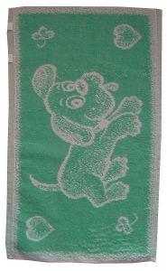 Detský froté uterák - Psíček svetlo zelený,