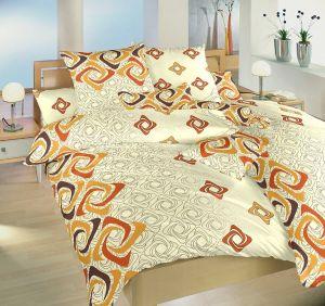 Bavlnené obliečky Bumerang tehlový
