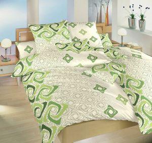 Bavlnené obliečky Bumerang zelený
