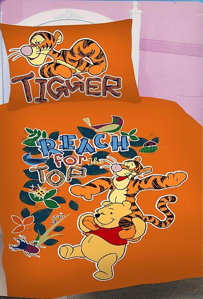 Dětské bavlněné ložní povlečení Disney - Medvídek Pů a tygr