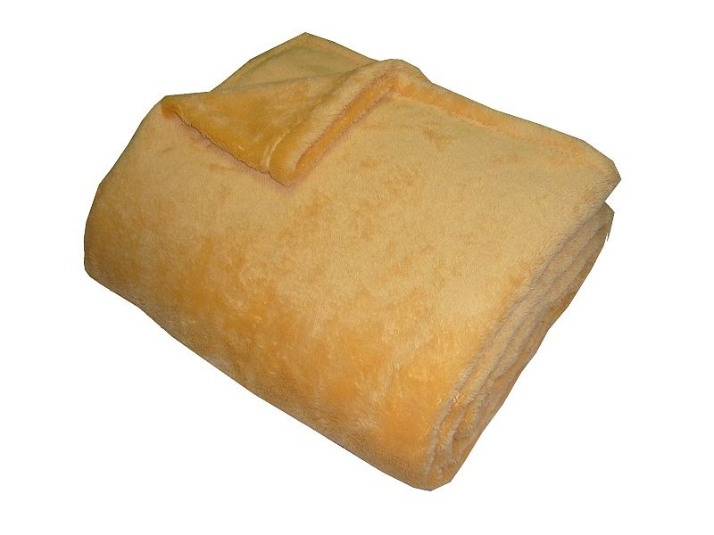 Super soft deka - okrová