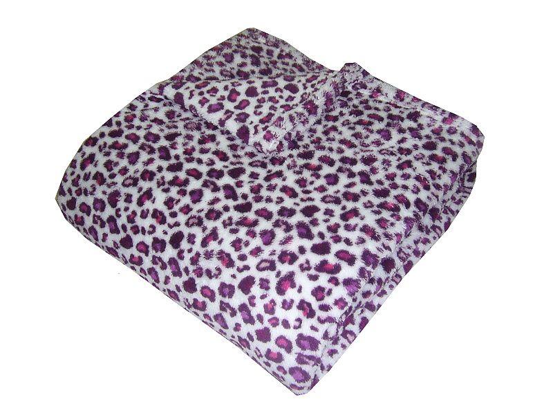 Super soft deka Safari - Gepard fialový