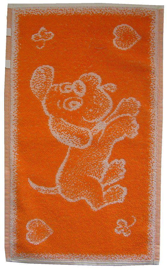 Dětský froté ručník - Pejsek oranžový