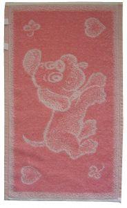 Detský froté uterák - Psíček ružový,