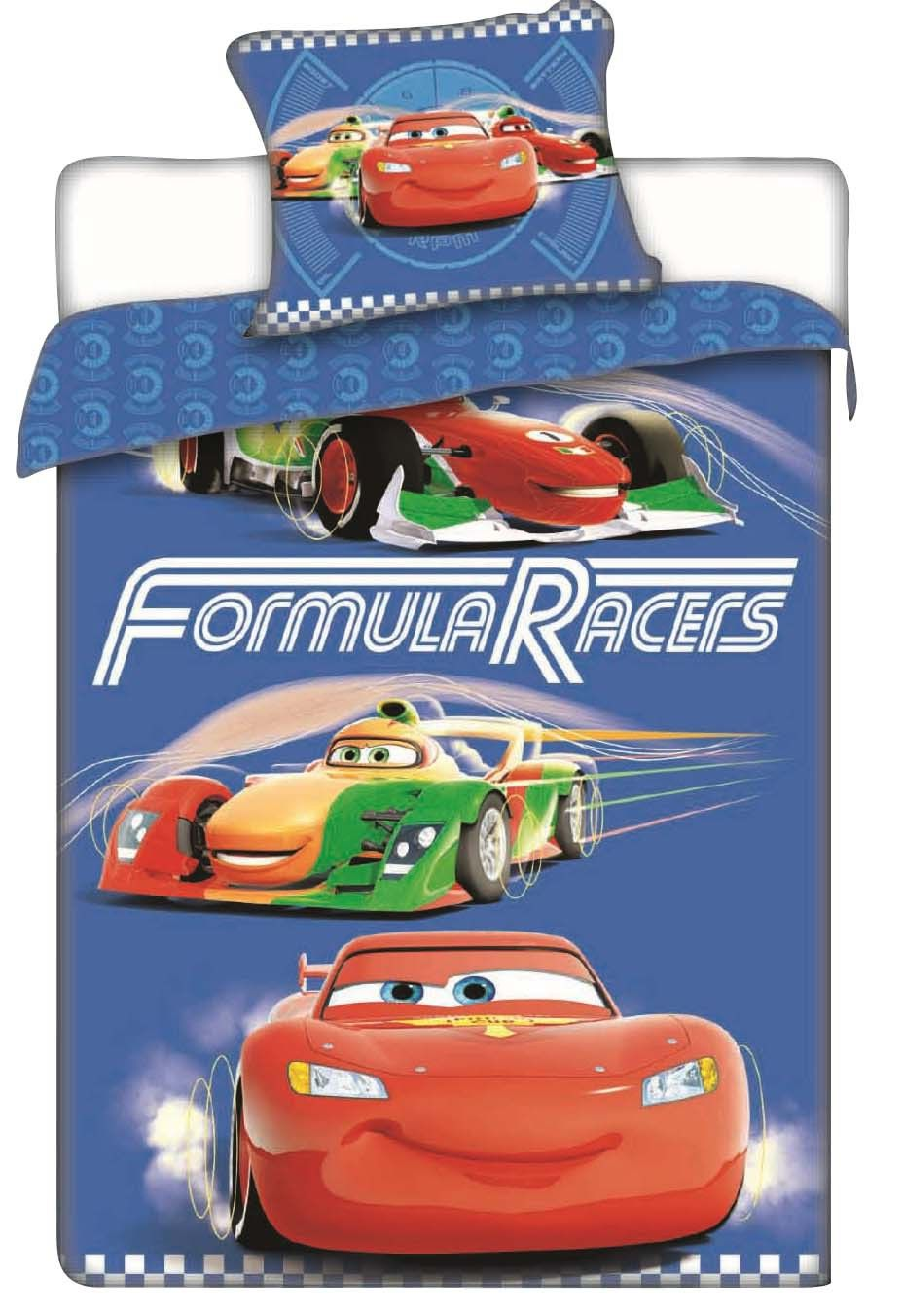 Dětské bavlněné ložní povlečení Disney Cars racers